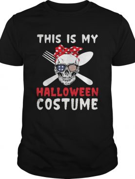 This Is My Halloween Costume Skull Flag Shirt