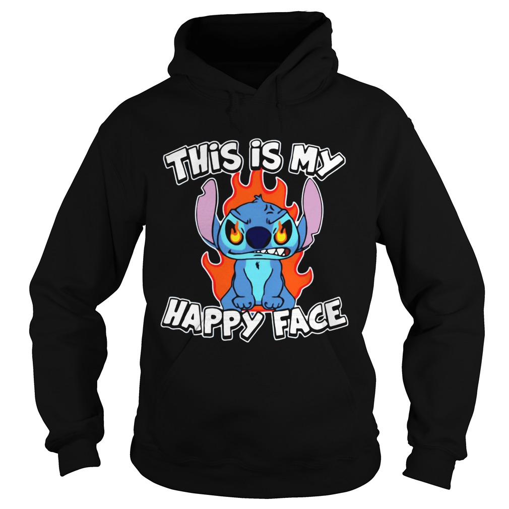 This is my happy face Stitch Halloween Hoodie