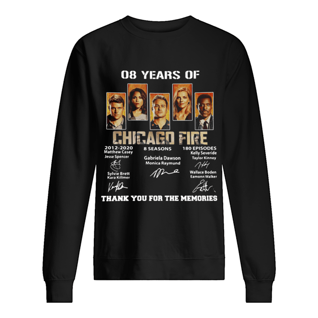 08 Years of Chicago Fire thank you for the memories signature  Unisex Sweatshirt