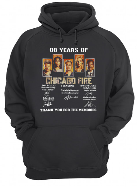 08 Years of Chicago Fire thank you for the memories signature  Unisex Hoodie