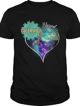 Dragonfly Blessed To Be Called Meemaw TShirt