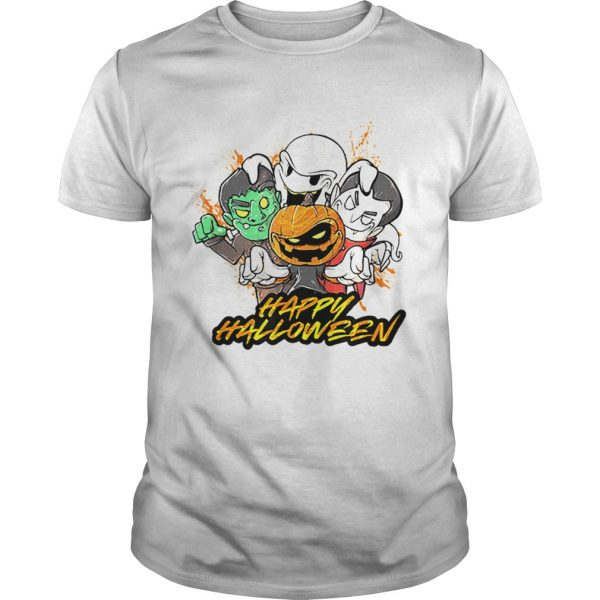 Halloween Pumpkin Face Vampire Ghost Frankenstein shirt