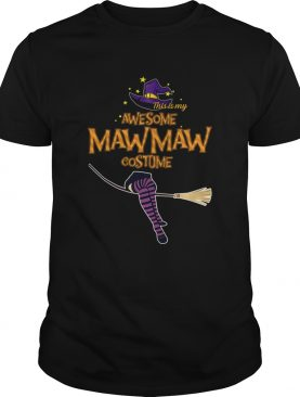 Halloween This Is My Awesome Mawmaw Costume TShirt