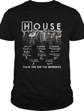 House 20042012 thank you for the memories signature shirt