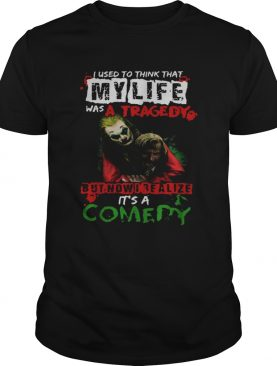 Joker Joaquin Phoenix I Realize My Lufe Is A Comedy shirt