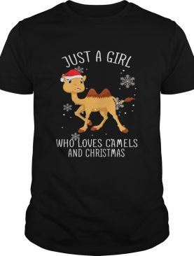 Just A Girl Who Loves Camels And Christmas Shirt