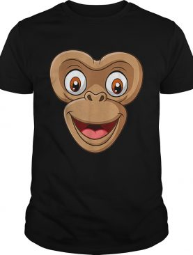 Top Halloween Monkey Face DIY Easy Costume Kids Boys Men Youth shirt