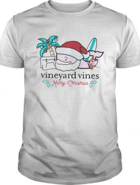 Vineyard Vines Surfside Santa Christmas T Shirt