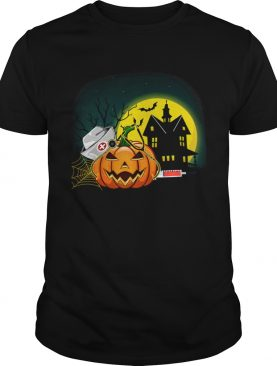 Womens Nurse PumpkinsWomens Halloween Pumpkin Scrubs TShirt