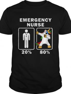 1572664107Emergency Nurse Unicorn Dabbing 20% 80% shirt