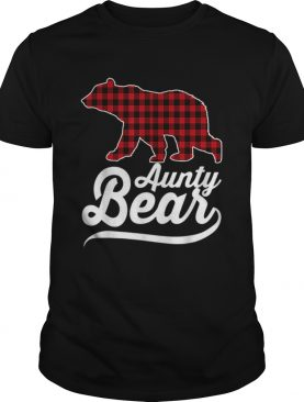 Beautiful Plaid Aunty Bear Christmas Pajama Family Ugly shirt