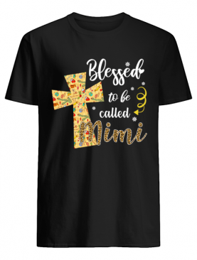 Blessed To Be Called Mimi Cross Christmas shirt