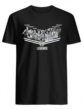 Boston Celtics Legends team signatures shirt