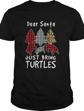 Dear Santa Just Bring Turtles Plaid Christmas Tree shirt