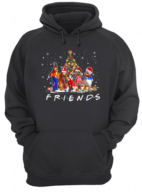 Friends Mickey Mouse characters christmas tree  Unisex Hoodie