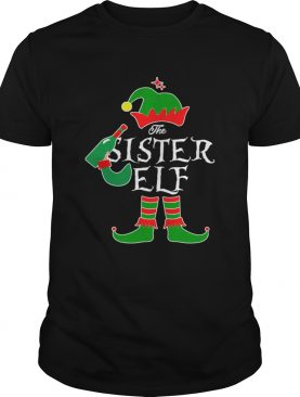 Funny The Sister Elf Family Matching Group Christmas shirt