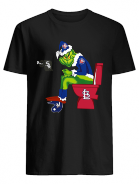 Grinch Chicago Cubs and St. Louis Cardinals toilet shirt