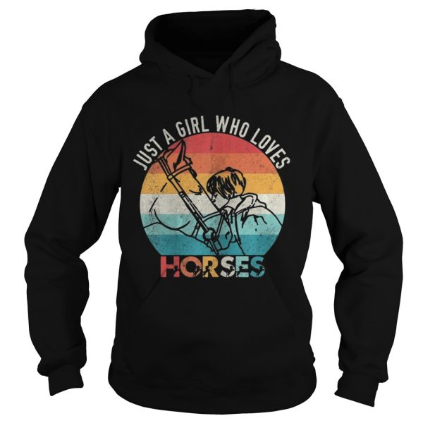 Just A Girl Who Loves Horses Vintage  Hoodie
