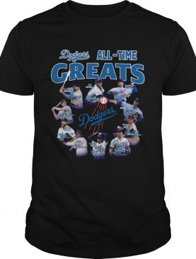 Los Angeles Dodgers all time great players signatures shirt LlMlTED EDlTlON
