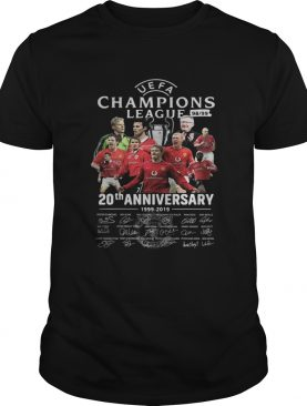 Manchester United UEFA Champions League 98 99 20th Anniversary Signatures shirt