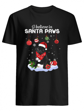 Pug I believe in Santa Paws Christmas shirt