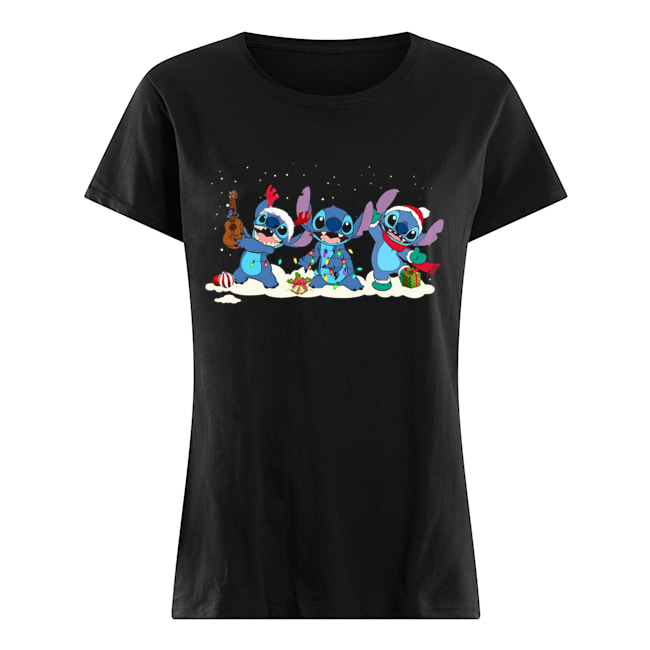 Stitch Funny Christmas  Classic Women's T-shirt