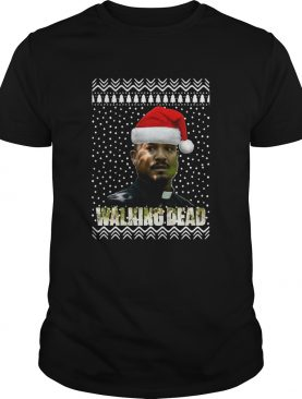 The Walking Dead Father Gabriel Stokes Santa Hat Christmas shirt
