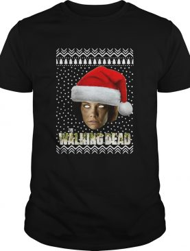 The Walking Dead Maggie Greene Santa Hat Ugly Christmas shirt