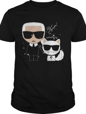 Karl Otto Lagerfeldt and Choupette Ikonik cat shirt