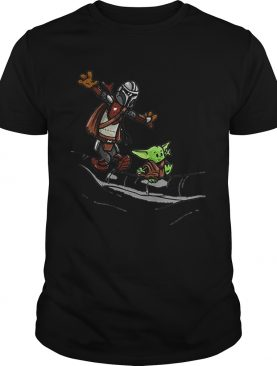 Mando and Baby Yoda Mandalorian shirt