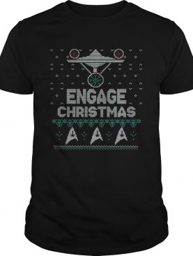 Ugly UFO engage christmas shirt