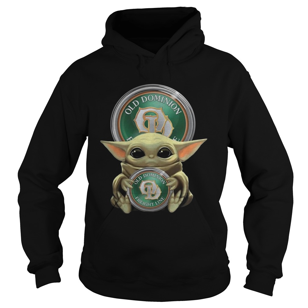 Baby Yoda Hugging Old Dominion Freight Line  Hoodie