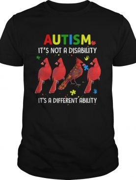 Parrot Autism Its Not A Disability Its A Different Ability shirt