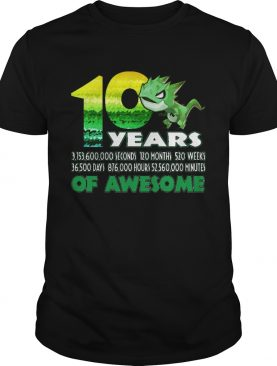 1581071455T-rex Dinosaur 10th Birthday Shirt for Awesome 9 Year Old shirt
