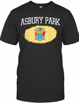 ASBURY PARK NJ NEW JERSEY Flag Vintage USA Sports T-Shirt