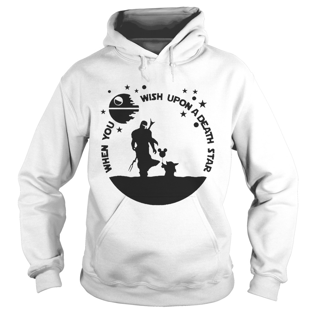 Baby Yoda The Mandalorian When you wish upon a death star  Hoodie