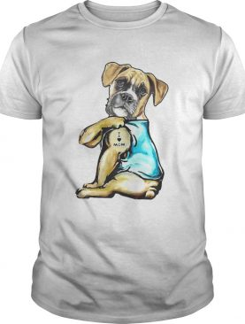Boxer Tattoos I Love MOM Funny Gift Mothers Day shirt