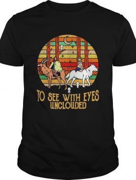 Mononoke and Ashitaka To see with eyes unclouded retro shirt