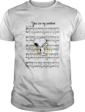 Snoopy you are my sunshine chords shirt