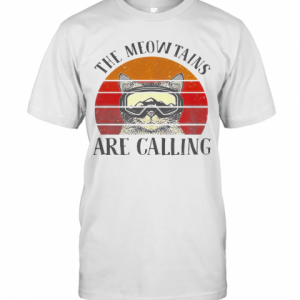 The Meowtains Are Calling Vintage T-Shirt Classic Men's T-shirt