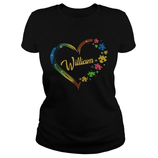 Autism Puzzle Heart Personalized  Classic Ladies