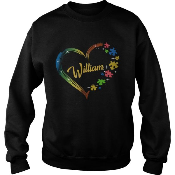 Autism Puzzle Heart Personalized  Sweatshirt