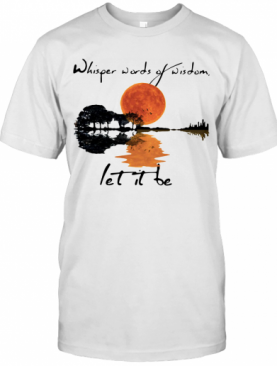 Whisper Words Of Wisdom Let It Be Jungle Guitar T-Shirt