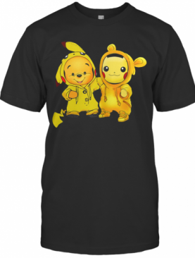 Baby Pooh And Pikachu T-Shirt