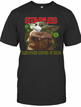 Baby Yoda Staples Survived Covid 19 2020 T-Shirt