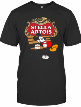 Mickey Mouse Drink Stella Artois T-Shirt