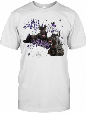 Scottish Terrier And Lavender T-Shirt