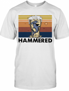 Beer And Hammerhead Sharks Vintage T-Shirt