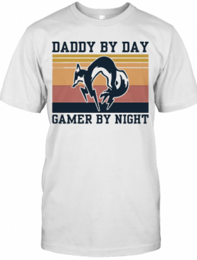 Metal Gear Solid Fox Daddy By Day Gamer By Night Vintage T-Shirt
