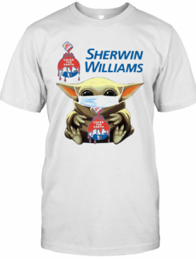 Star Wars Baby Yoda Hug Sherwin Williams Covid 19 T-Shirt